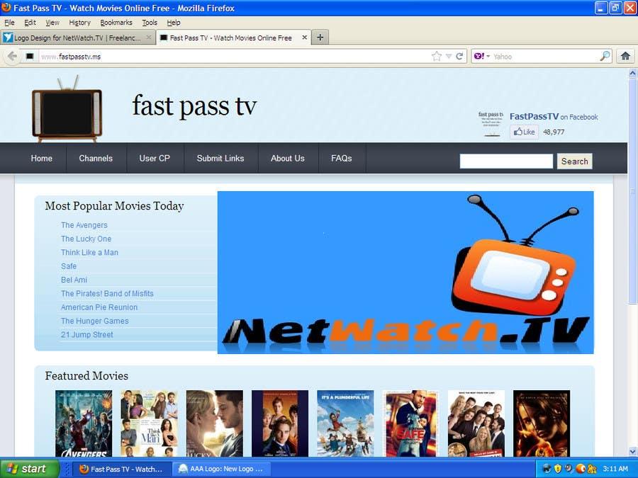 Inscrição nº 3 do Concurso para Logo Design for NetWatch.TV