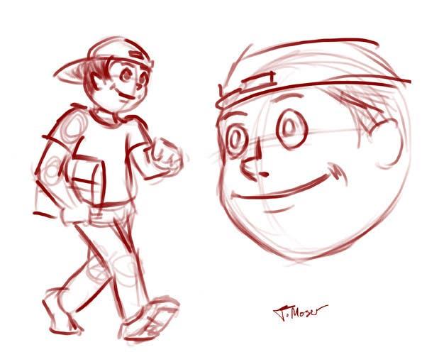Конкурсная заявка №2 для 2 vector cartoons of a young delivery boy