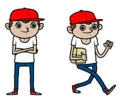 #13 para 2 vector cartoons of a young delivery boy por critosbel