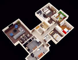 #26 para Apartment unit interior 3d design de OutlineVisual
