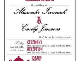 Nro 8 kilpailuun Tea Party Wedding Invitation Alice in Wonderland - Urgent käyttäjältä kc11
