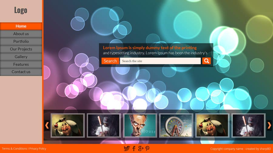 #12 for Design a Website Mockup for Portfolio by sharpBD