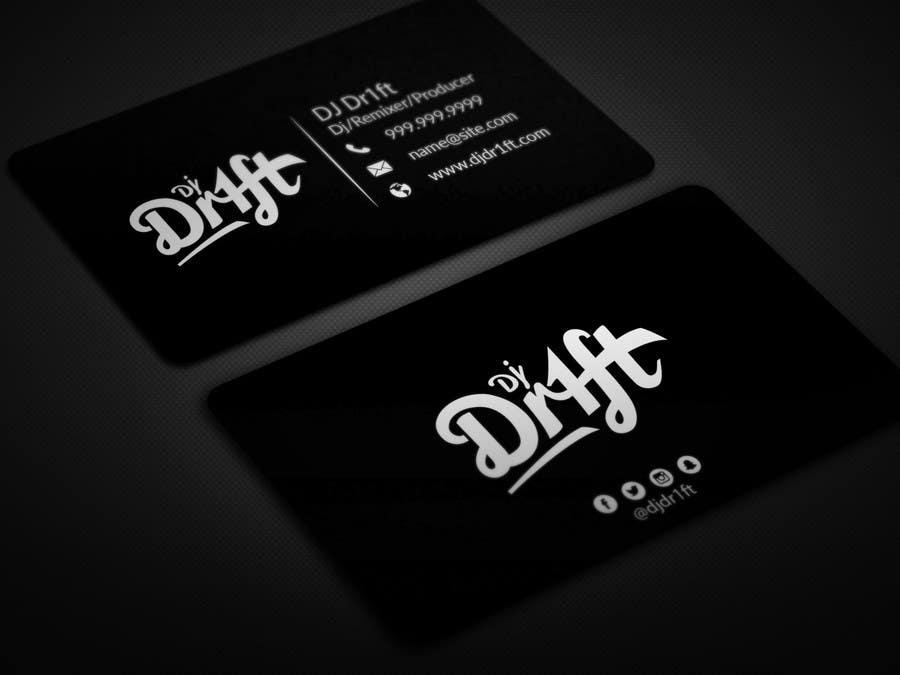 Contest Entry 124 For Design Sleek Elegant Business Card DJ