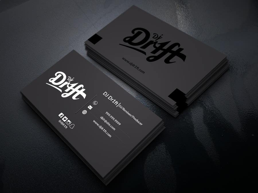 Design Sleek Elegant Business Card For DJ   Freelancer