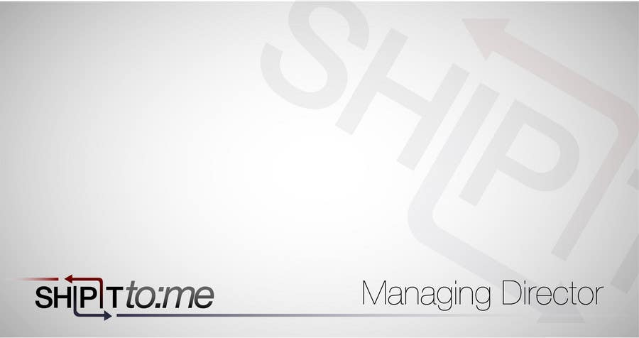 Proposition n°                                        41                                      du concours                                         Graphic Design for ShipItToMe - Logo, Business Card & HomePage Design