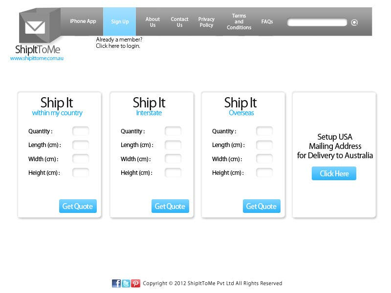 Proposition n°                                        30                                      du concours                                         Graphic Design for ShipItToMe - Logo, Business Card & HomePage Design