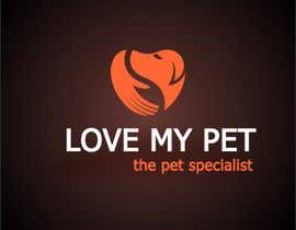 #125 za Logo Design for Love My Pet od creativelake