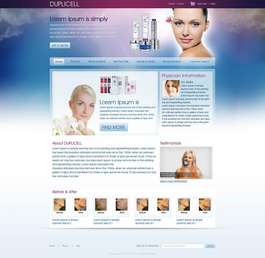 #10 for Website Design for Duplicell LLC by tania06