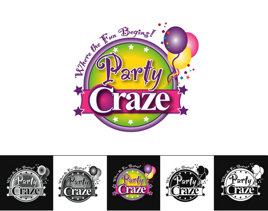 Entertainment Logo Design Party Logo Design  ProDesigns