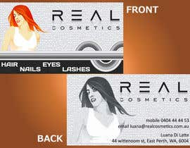 theboxmeister tarafından Business Card Design for Real Cosmetics için no 18