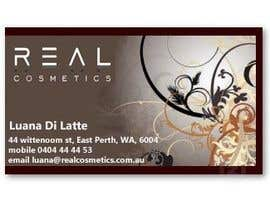 #10 para Business Card Design for Real Cosmetics por KavinKV