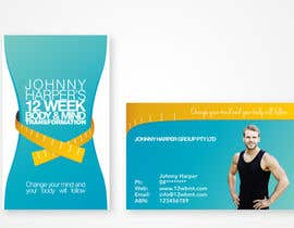 #11 untuk Business Card Design for Johnny Harper's 12 Week Body & Mind Transformation oleh iamwiggles
