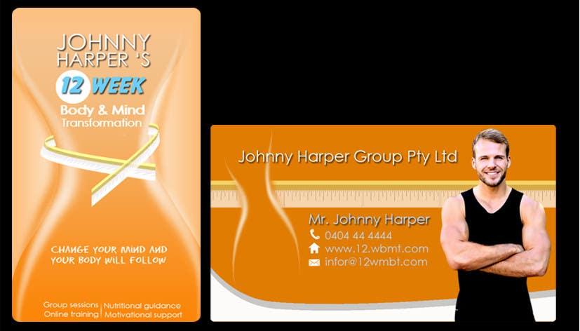 Inscrição nº 37 do Concurso para Business Card Design for Johnny Harper's 12 Week Body & Mind Transformation