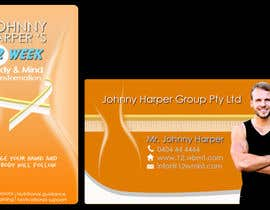 #37 for Business Card Design for Johnny Harper's 12 Week Body & Mind Transformation by ramabad