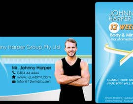 #36 untuk Business Card Design for Johnny Harper's 12 Week Body & Mind Transformation oleh ramabad