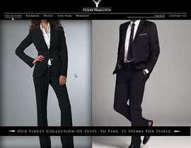 succinct tarafından Design a Website Mockup for a stylish bespoke fashion brand için no 55