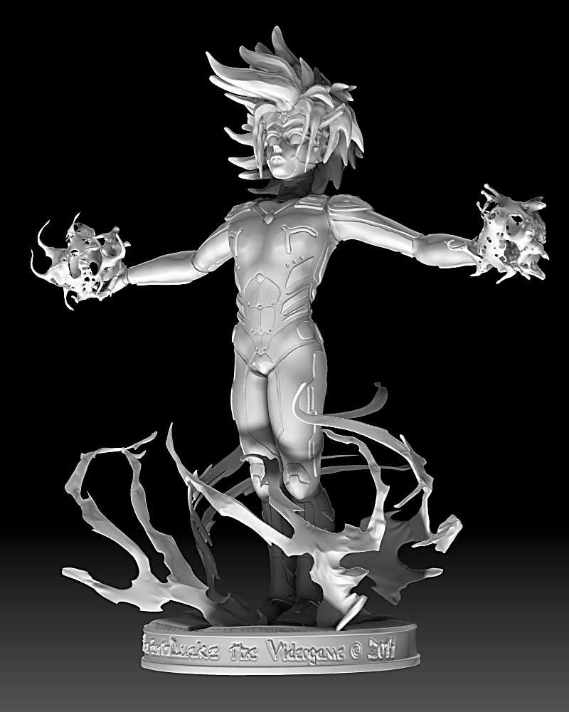 Anime Characters Zbrush : Phoenix angels anime character zbrush sculpting