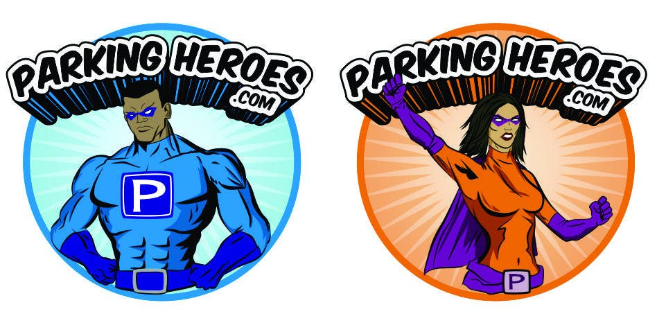 Contest Entry #                                        11                                      for                                         ParkingHeroes.com  Guaranteed $ Illustrators needed 2 characters !!  Sealed Contest... See Samples