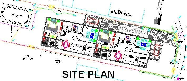 #39 for Provide a floor plan for a duplex by rsp1619
