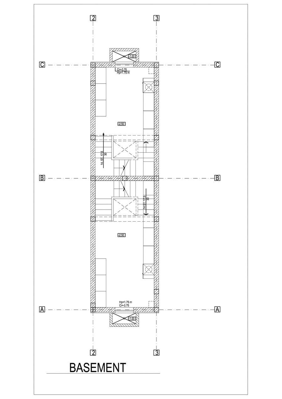 #19 for Provide a floor plan for a duplex by Sebi71