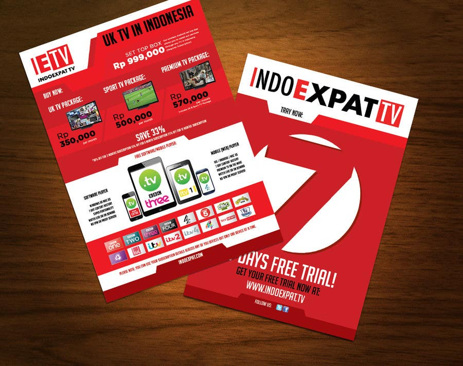 #7 for Design a Flyer for IPTV Company by igorprole
