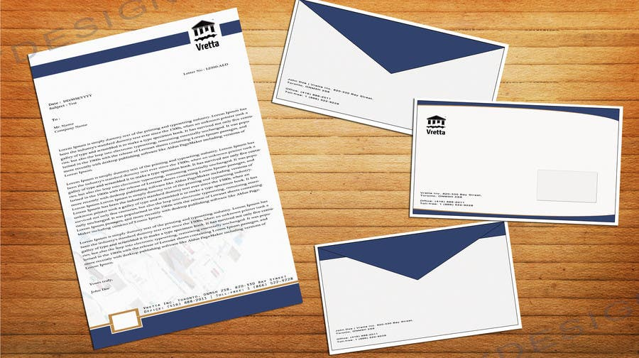 Penyertaan Peraduan #                                        13                                      untuk                                         Design a template for our letters and envelopes