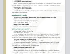 #8 for Graphic Design for Curriculum Vitae af Youg