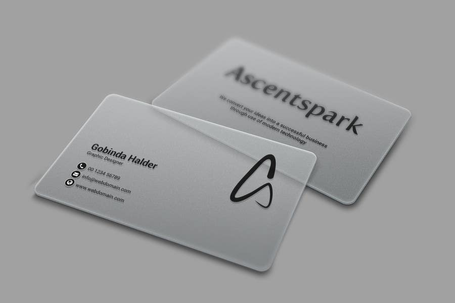 Entry #4 by smartghart for Design a cool transparent business card ...