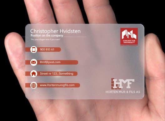 Inscrição nº                                         3                                      do Concurso para                                         Design noen visittkort for Horten Mur og Flis AS