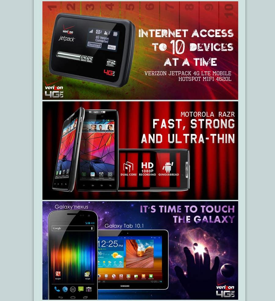 Bài tham dự cuộc thi #                                        44                                      cho                                         Advertisement Design for Verizon Wireless Premium Retailer- The Wireless Center