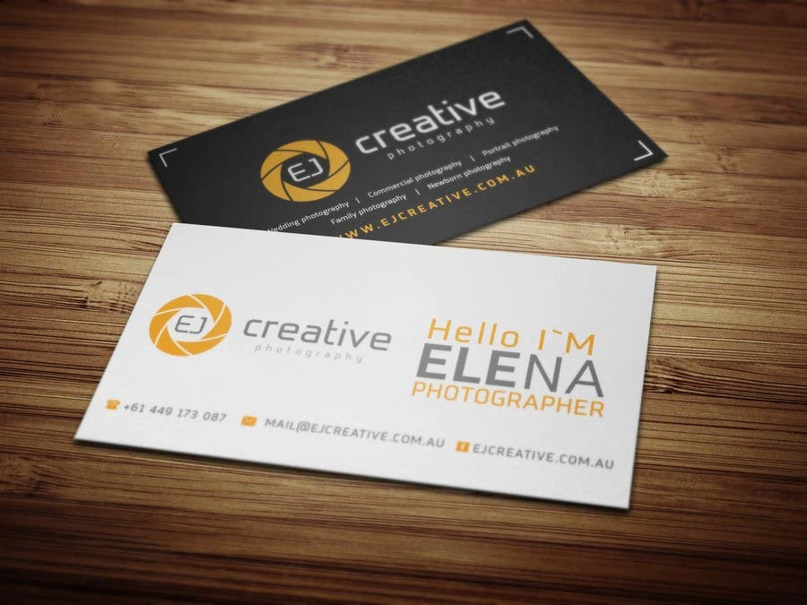 Contest Entry 48 For EJ Creative Professional Photography Business Cards