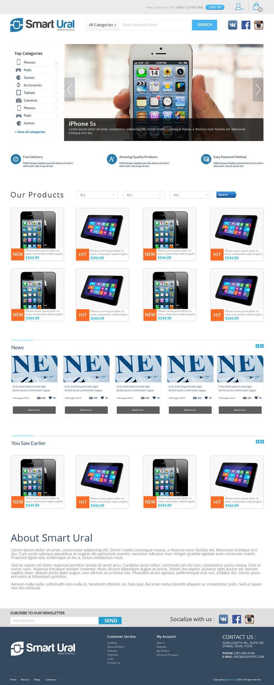 Penyertaan Peraduan #                                        11                                      untuk                                         Develop a mockup for main page of e-commerce site
