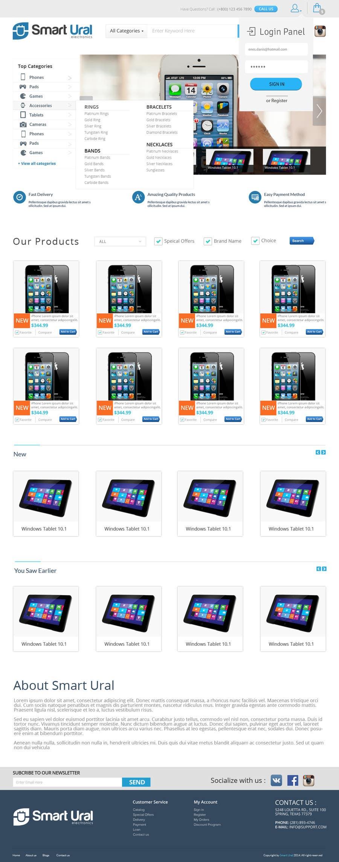 Penyertaan Peraduan #                                        13                                      untuk                                         Develop a mockup for main page of e-commerce site