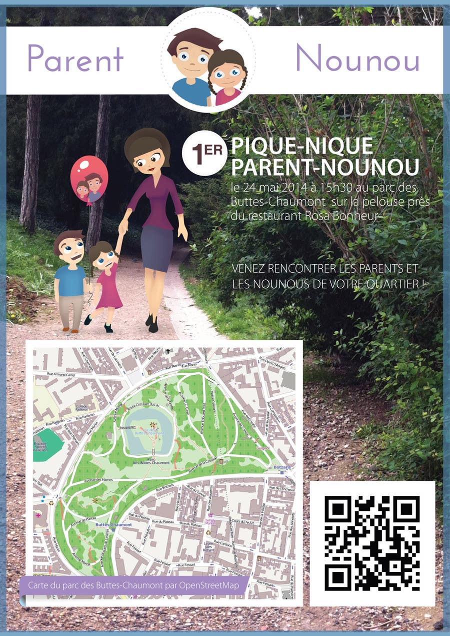 #21 for Create a flyer to advertise picnic related to website launch (in French) by amcgabeykoon