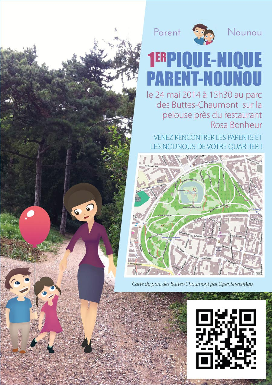 #27 for Create a flyer to advertise picnic related to website launch (in French) by amcgabeykoon