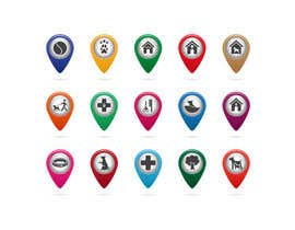 #36 para Redesign 15 Map Markers for a Locator Page por VitalinaLitvin