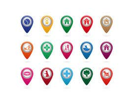 #37 para Redesign 15 Map Markers for a Locator Page por VitalinaLitvin