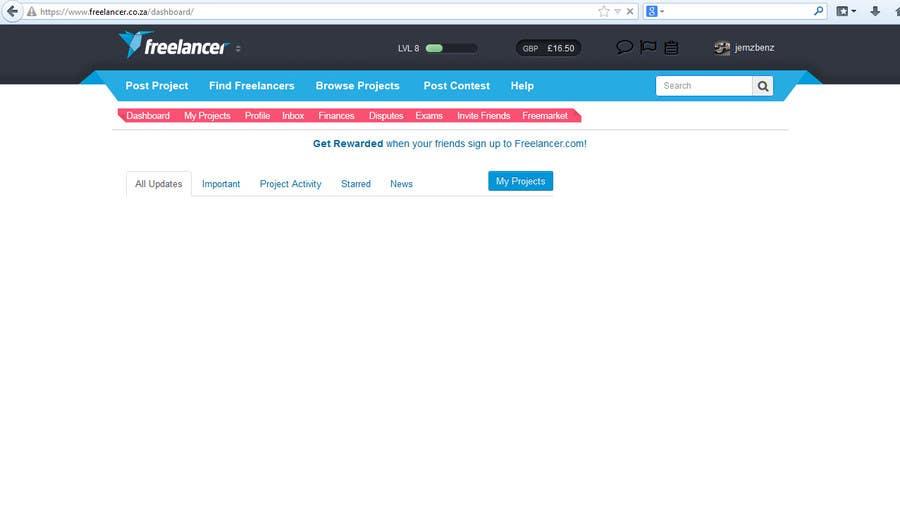 #11 for Design a Website Mockup for Freelancer.com !!! by jemzbenz