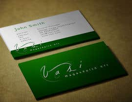 #52 untuk Create a business card with special characters oleh emadrazanmay