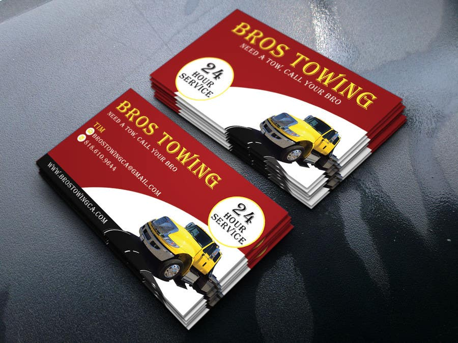 Entry #61 by arupbh0001 for Tow truck business cards | Freelancer
