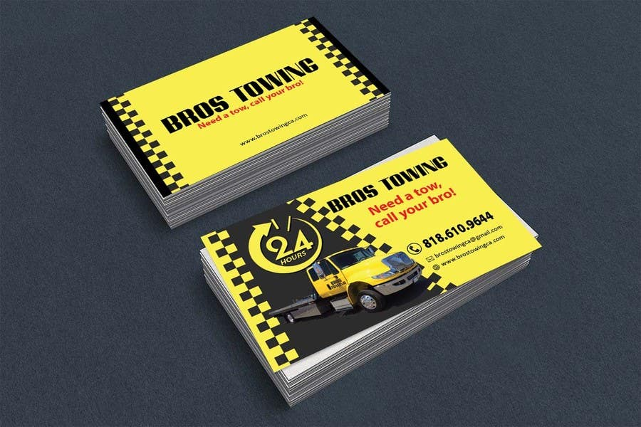 Towing Service Business Cards
