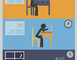 #17 cho Workaholic illustration or cartoon. Design single-panel illustration or cartoon symbolizing a Workaholic (multiple winners possible). bởi seevig