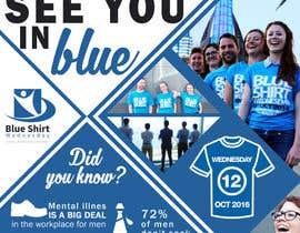 #4 para Design an A4 flyer | Blue Shirt Wednesday | 2016 | 02 de ancadc