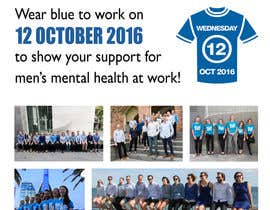#3 para Design an A4 flyer | Blue Shirt Wednesday | 2016 | 02 de ipcharalambous