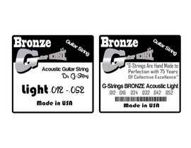 denigusnandi92 tarafından Create Print and Packaging Designs for Acoustic Guitar Strings için no 21