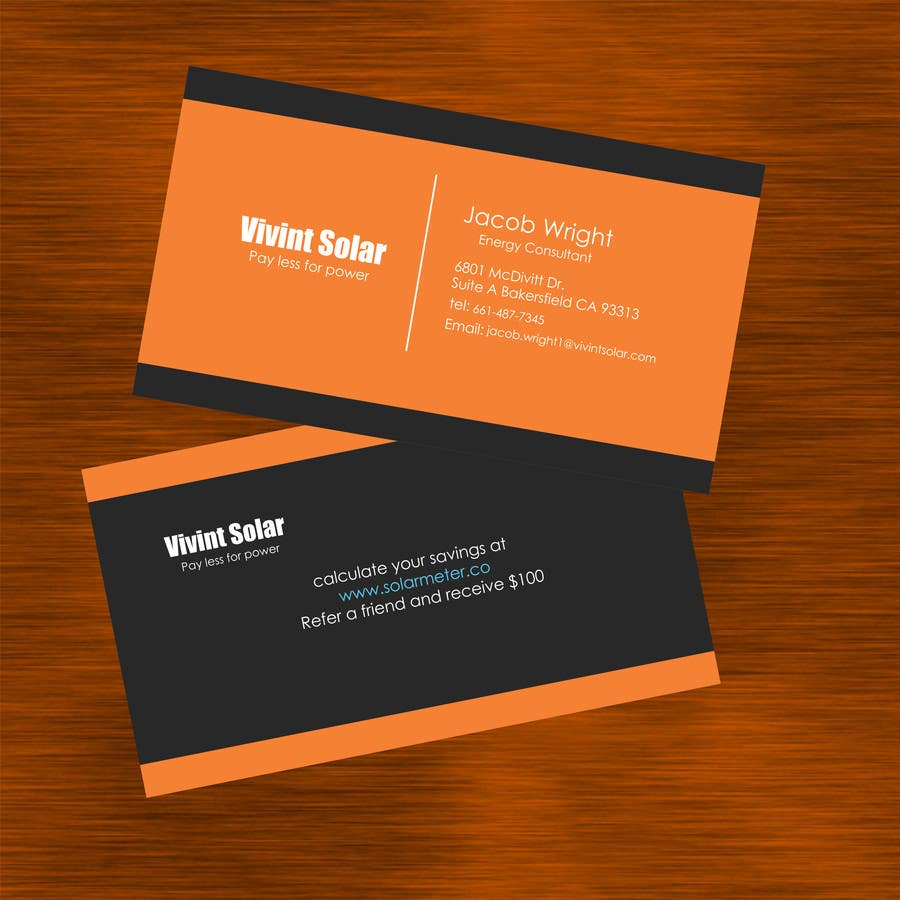 Entry 7 by apexpredator for design some business cards for vivint contest entry 7 for design some business cards for vivint reheart Images