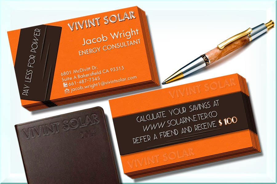 Entry #16 by babaprops for Design some Business Cards for Vivint ...