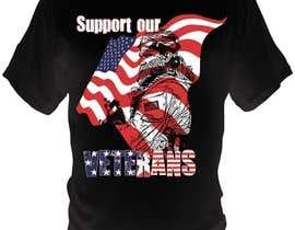 Nro 12 kilpailuun Design a T-Shirt that supports USA Military and/or USA Veterans käyttäjältä bacujkov