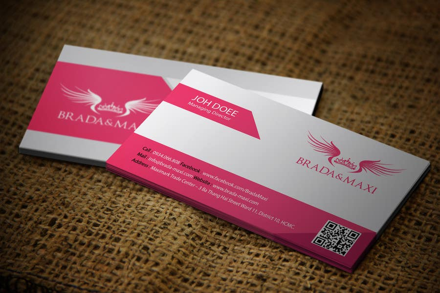Contest Entry 147 For What Is A SIMPLE But CREATIVE Business Card Fashion Shops
