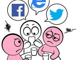 #12 para Social media addict. Design single-panel illustration or cartoon symbolizing a social media addict (multiple winners possible). por satherghoees1